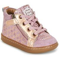 Cipők Lány Magas szárú edzőcipők Shoo Pom BOUBA BI ZIP Rózsaszín / Rezes