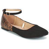 Cipők Női Balerina cipők / babák Moony Mood GLIMY Fekete