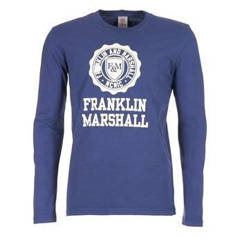 Ruhák Férfi Hosszú ujjú pólók Franklin & Marshall DESTU Tengerész
