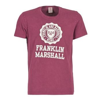Ruhák Férfi Rövid ujjú pólók Franklin & Marshall GRAVI Bordó