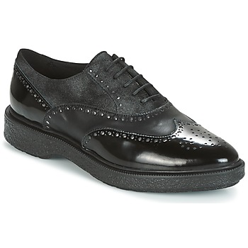 Cipők Női Oxford cipők Geox D PRESTYN Fekete