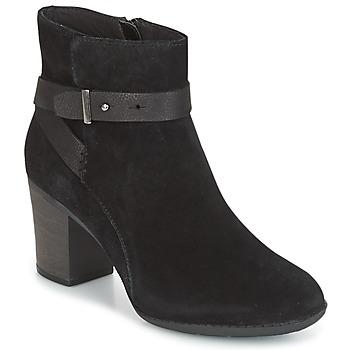 Cipők Női Oxford cipők Clarks ENFIELD SARI Fekete / Szarvasbőr