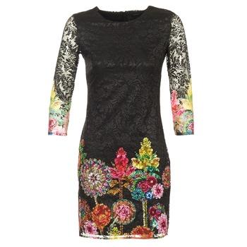 Ruhák Női Rövid ruhák Desigual GRAFI Fekete