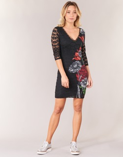 Ruhák Női Rövid ruhák Desigual GRAFE Fekete