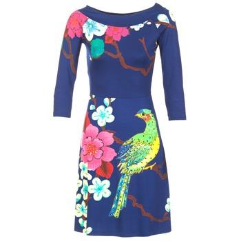 Ruhák Női Rövid ruhák Desigual MARTA Kék