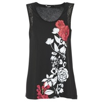 Ruhák Női Trikók / Ujjatlan pólók Desigual MAGEIS Fekete