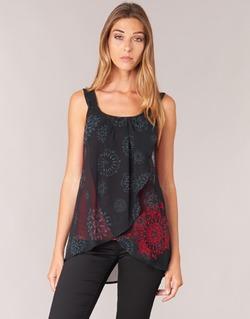Ruhák Női Trikók / Ujjatlan pólók Desigual MEGEC Fekete  / Piros