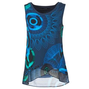 material Női Trikók / Ujjatlan pólók Desigual TAMAC Kék