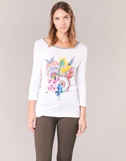 Ruhák Női Hosszú ujjú pólók Desigual TERON Fehér