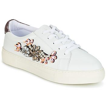 Cipők Női Rövid szárú edzőcipők Dune London EMERALDA Fehér