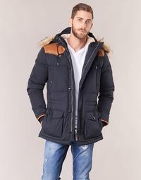 Ruhák Férfi Steppelt kabátok Schott ARIZONA Kék / Tengerész