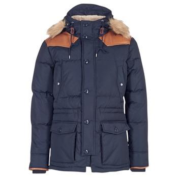 Ruhák Férfi Steppelt kabátok Schott ARIZONA Tengerész