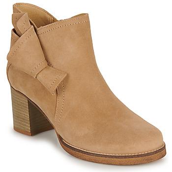 Cipők Női Bokacsizmák Casual Attitude HIRCHE Bézs