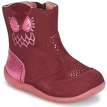 Cipők Lány Csizmák Kickers BRETZELLE Rózsaszín / Sötét