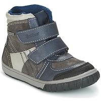 Cipők Fiú Hótaposók Kickers SITROUILLE Szürke / Sötét / Kék