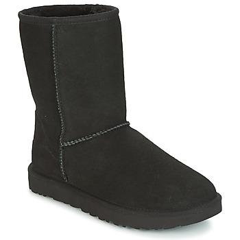 Cipők Női Csizmák UGG CLASSIC SHORT II Fekete
