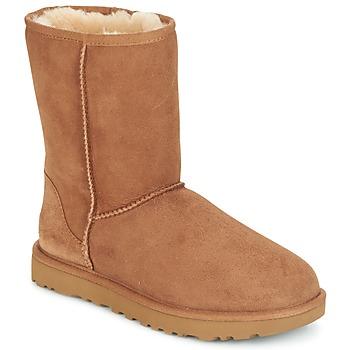 Cipők Női Csizmák UGG CLASSIC SHORT II Teve