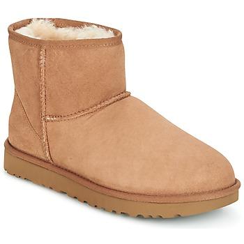 Cipők Női Csizmák UGG CLASSIC MINI II Teve