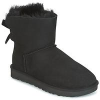 Cipők Női Csizmák UGG MINI BAILEY BOW II Fekete
