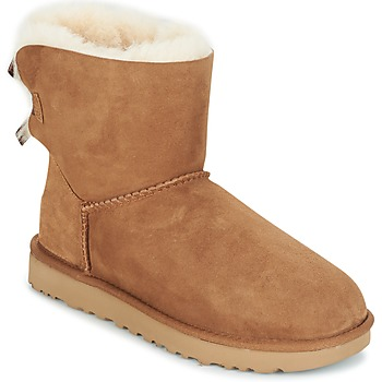 Cipők Női Csizmák UGG MINI BAILEY BOW II Teve