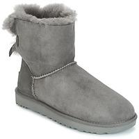 Cipők Női Csizmák UGG MINI BAILEY BOW II Szürke