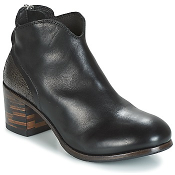 Cipők Női Csizmák Moma CUSNA NERO/ TALON TACO MIX, ARRIRE AFRICA Fekete  / Ezüst