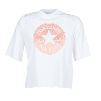 Ruhák Női Rövid ujjú pólók Converse SATIN CP MOCK NECK TEE Fehér