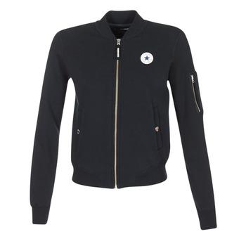 material Női Kabátok / Blézerek Converse CORE MA-1 BOMBER Fekete