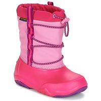 Cipők Lány Hótaposók Crocs Swiftwater waterproof boot Parti / Rózsaszín