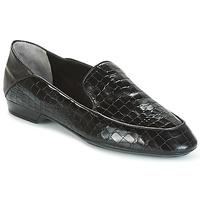 Cipők Női Mokkaszínek Robert Clergerie FANIN-COCCO-AGNEAU-NOIR Fekete