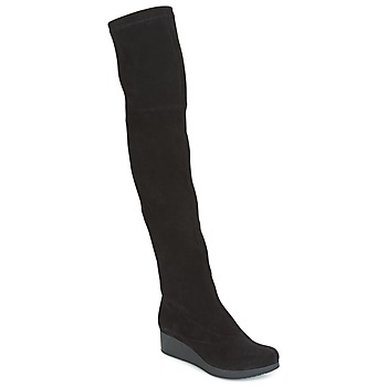 Cipők Női Combcsizmák Robert Clergerie Natun-VELOURS-STRETCH-NOIR Fekete