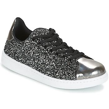 Cipők Női Rövid szárú edzőcipők Yurban HELVINE Szürke / Fényes