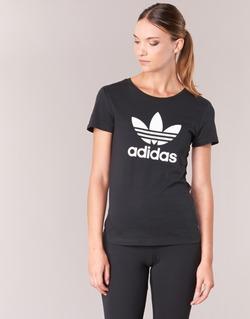 Ruhák Női Rövid ujjú pólók adidas Originals TREFOIL TEE Fekete