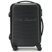 Táskák Keményfedeles bőröndök Little Marcel BLOC Fekete