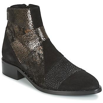 Cipők Női Csizmák Philippe Morvan SILKO V1 CR VEL NOIR Fekete