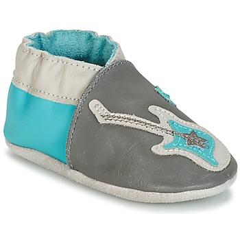 Shoes Fiú Baba mamuszok Robeez SUPERSTAR ROCK Kék / Szürke
