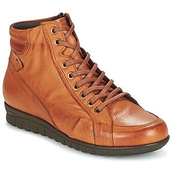 Cipők Női Magas szárú edzőcipők Pitillos 2631 Konyak