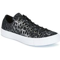 Cipők Női Rövid szárú edzőcipők Converse CHUCK TAYLOR ALL STAR SHIMMER SUEDE OX BLACK/BLACK/WHITE Fekete  / Fehér