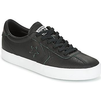 Cipők Női Rövid szárú edzőcipők Converse BREAKPOINT FOUNDATIONAL LEATHER OX BLACK/BLACK/WHITE Fekete  / Fehér