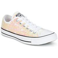 Cipők Női Rövid szárú edzőcipők Converse CHUCK TAYLOR ALL STAR SEQUINS OX WHITE/BLACK/WHITE Fehér / Fényes