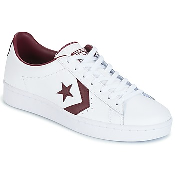 Cipők Férfi Rövid szárú edzőcipők Converse PL 76 FOUNDATIONAL LEATHER WITH ELEVATED DETAILING OX WHITE/DEEP Fehér / Bordó