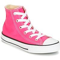 Cipők Lány Magas szárú edzőcipők Converse CHUCK TAYLOR ALL STAR SEASONAL HI PINK POW Rózsaszín
