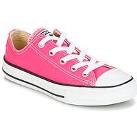 Cipők Lány Rövid szárú edzőcipők Converse CHUCK TAYLOR ALL STAR SEASONAL OX PINK POW Rózsaszín