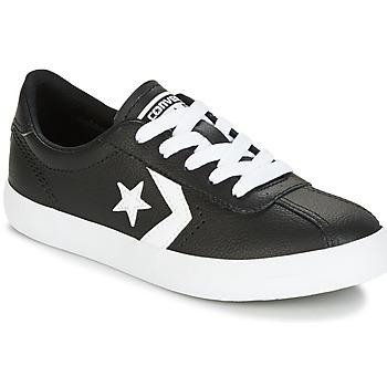 Cipők Gyerek Rövid szárú edzőcipők Converse BREAKPOINT FOUNDATIONAL LEATHER BP OX BLACK/WHITE/BLACK Fekete  / Fehér
