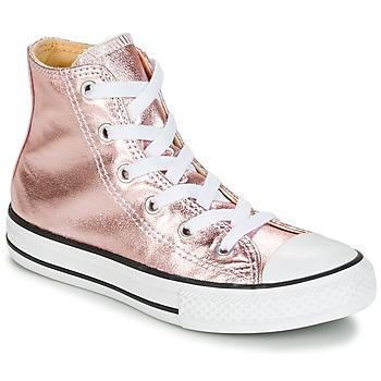 Cipők Lány Magas szárú edzőcipők Converse CHUCK TAYLOR ALL STAR METALLIC SEASONAL HI METALLIC SEASONAL HI Rózsaszín / Fehér / Fekete