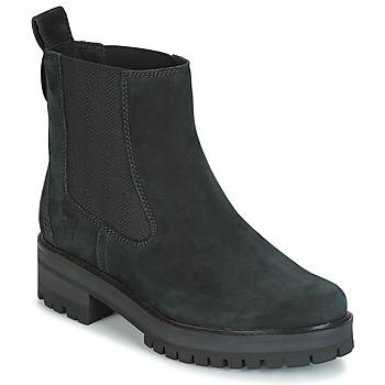 Cipők Női Csizmák Timberland COURMAYER VALLEY CHELSEA Fekete