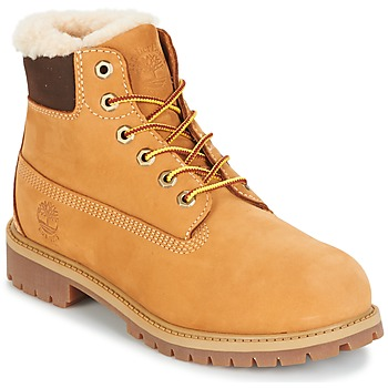 Shoes Gyerek Csizmák Timberland 6 IN PRMWPSHEARLING LINED Teve
