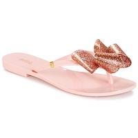 Cipők Női Lábujjközös papucsok Melissa HARMONIC TARTAN AD Rózsaszín