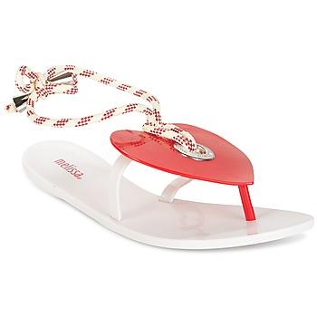 Cipők Női Lábujjközös papucsok Melissa BLISS II SP AD Fehér / Piros