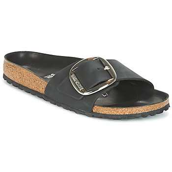 Cipők Női Papucsok Birkenstock MADRID BIG BUCKLE Fekete  / Matt